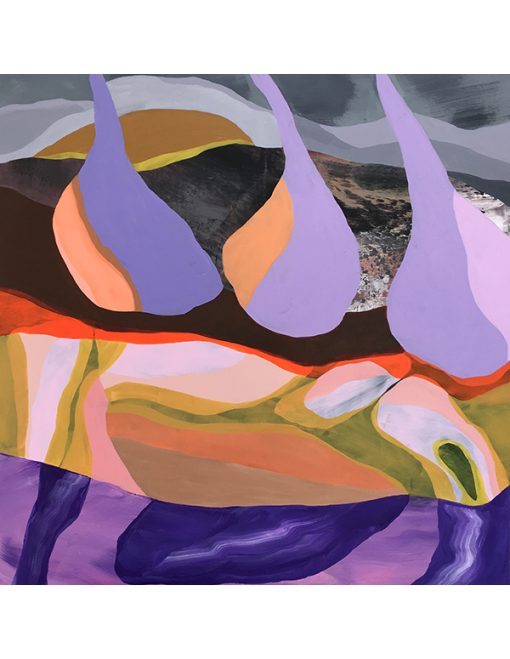 Purple Rain abstrakt maleri i lilla nuancer fra Piece Of Paint