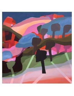 shadows of wonderland abstrakt maleri I forskellige farver fra Piece of paint