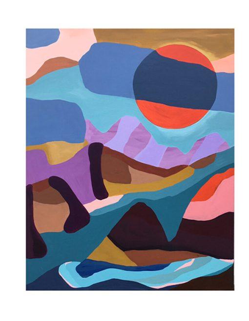 Survival Of The Sun abstrakt maleri I kraftige farver fra Piece Of Paint