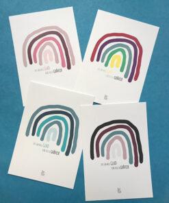 tiny tellers regnbue plakater I forskellige farver i str A6
