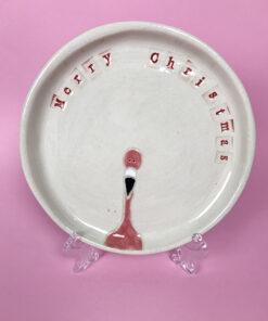 Flamingo juletallerken fra AE keramik