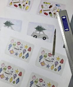Små Håndlavede til og fra kort fra Amalie Bolt