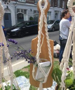 Nordic Macramé plantehænger i lille perfekt til en lille vase, skål eller plante.