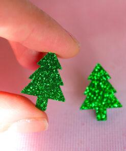 Små glimmer juletræer fra Saisall