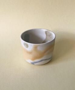 keramik krus fra Landskabts tivoli serie i gul