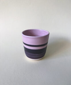 keramik krus fra Landskabts tivoli serie i lyserød og brun