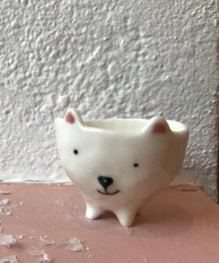 rikke mangelsen isbjørn keramik skål