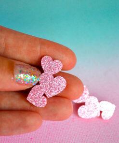 3 små hjerter i plexiglas fra saisall