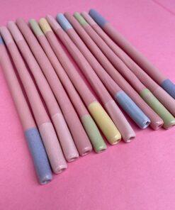 keramik sugerør i forskellige pastelfarver