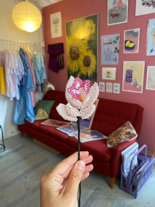 Maj Perle Lyserød og Pink Orkide