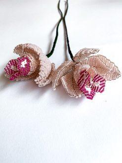 Maj Perle Lyserøde og Pinke Orkide Perleblomster