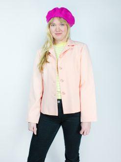 smuk vintage blazer jakke i rosa