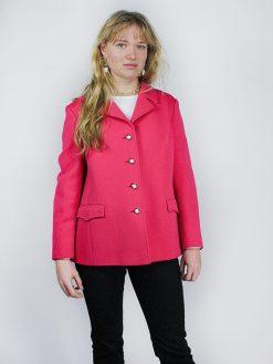Vintage pink blazer med guld knapper