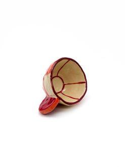 lille ternet keramik kop fra Rebu Ceramics